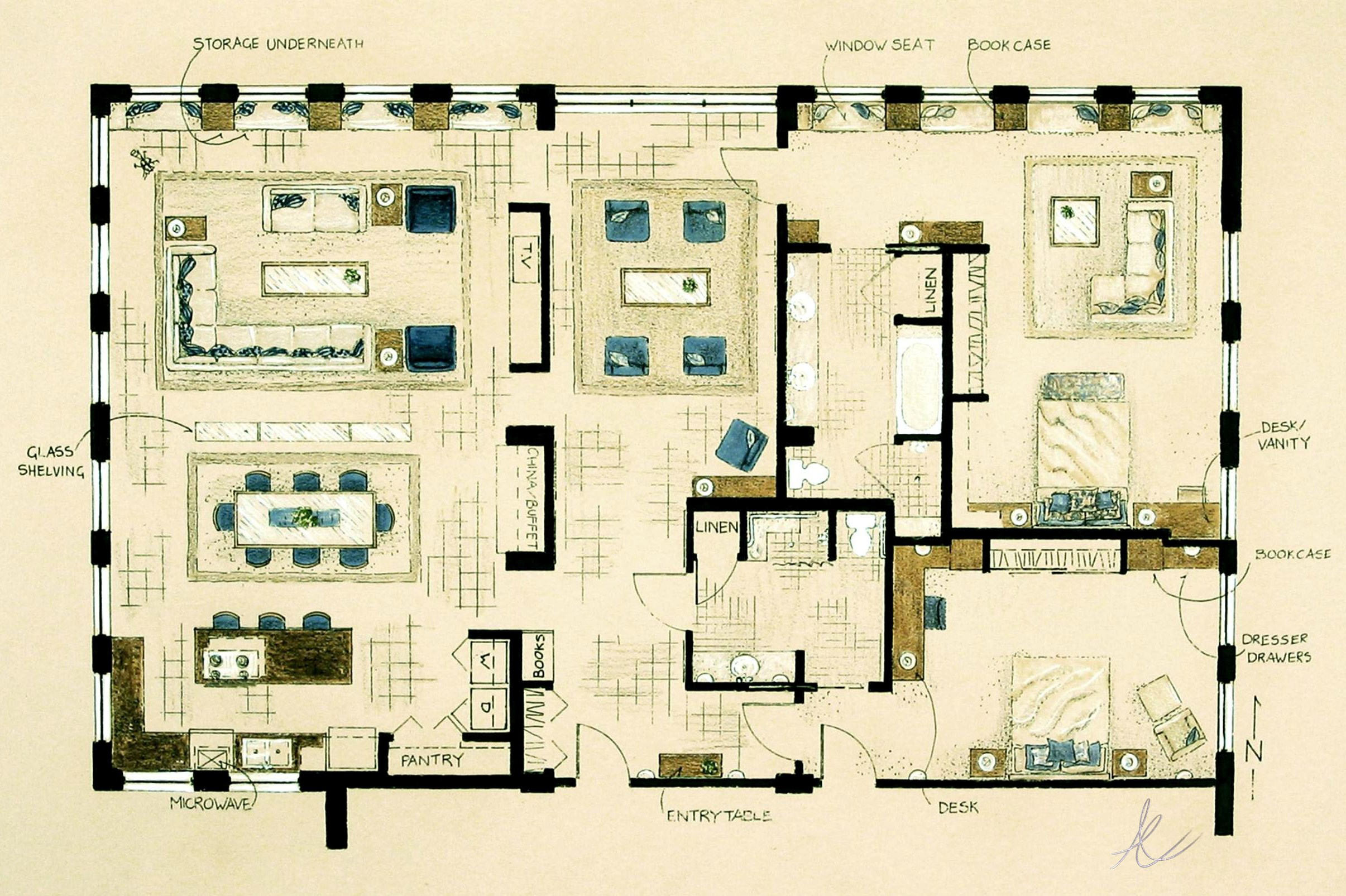 Interior design inspired to create by for Beach house floor plans