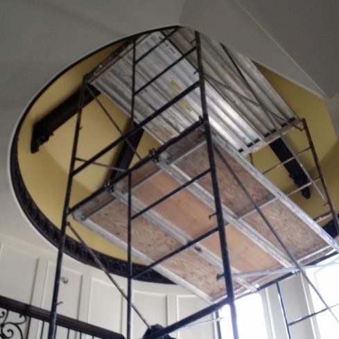 Up on the scaffold for AE Design Dashner Turret Design